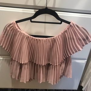 Keepsake pleated crop top